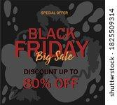 black friday sale baner design. ... | Shutterstock .eps vector #1825509314