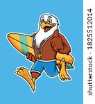 Cute Cartoon Eagle Carrying A...