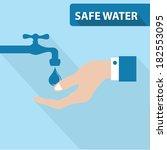 safe water concept vector   Shutterstock .eps vector #182553095