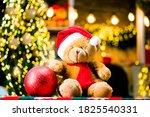 Teddy Bear With Christmas Gift. ...