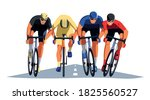 Men's Bicycle Race. Cyclists At ...