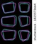 empty glowing neon frames... | Shutterstock .eps vector #1825573664