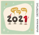 vintage style funny greeting... | Shutterstock .eps vector #1825587161
