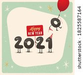 vintage style funny greeting... | Shutterstock .eps vector #1825587164