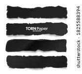 ripped black paper strips.... | Shutterstock .eps vector #1825588394