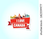 canada love | Shutterstock .eps vector #182559977