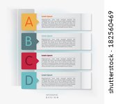 "Modern ""ABCD"" infographics option banner- Design for diagram"