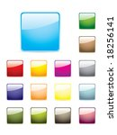 colourful glossy buttons | Shutterstock .eps vector #18256141