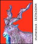 Mountain Goat  Markhor  On A...