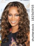 Small photo of Tyra Banks at Cosmopolitan's Fun Fearless Phenom Awards, Hearst Tower, New York, NY, September 15, 2008