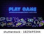 console community neon banner... | Shutterstock .eps vector #1825695344