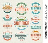 summer holidays design elements ... | Shutterstock .eps vector #182573669