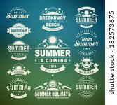 summer holidays design elements ... | Shutterstock .eps vector #182573675