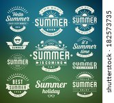 summer holidays design elements ... | Shutterstock .eps vector #182573735