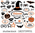 cartoon halloween photo booth... | Shutterstock .eps vector #1825739951