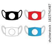 masker icon vector for medical... | Shutterstock .eps vector #1825741487
