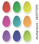 paper eggs | Shutterstock .eps vector #182577095