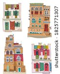 a set of traditional arabian ... | Shutterstock .eps vector #1825771307