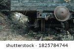 Old  Rusty  Wooden Train Car...