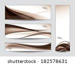 vector banners   bookmarks.... | Shutterstock .eps vector #182578631