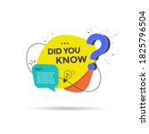 did you know label with... | Shutterstock .eps vector #1825796504