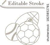 sport balls icon. editable...