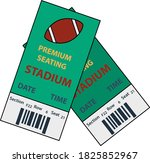 american football tickets icon. ...