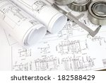 construction drawings  caliper... | Shutterstock . vector #182588429