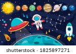 colorful planets of solar system   Shutterstock .eps vector #1825897271