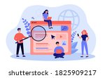 search engine answering users... | Shutterstock .eps vector #1825909217