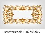 vector vintage ornate border... | Shutterstock .eps vector #182591597
