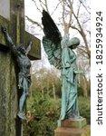 Old Crucifix In A Graveyard ...