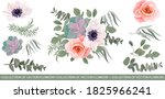 flowers on a white background....   Shutterstock .eps vector #1825966241