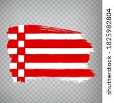 flag of bremen brush strokes....