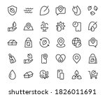 ecology vector line icons set ... | Shutterstock .eps vector #1826011691