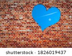 Red Brick Wall With A Heart...
