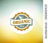 eco green stamp label of... | Shutterstock .eps vector #182602415