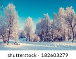 fantastic winter landscape.... | Shutterstock . vector #182603279