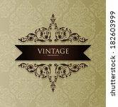 vintage card design for...   Shutterstock .eps vector #182603999