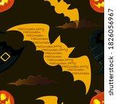 halloween orange festive... | Shutterstock .eps vector #1826056967