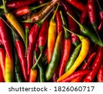 Close Up On Chilli Peppers