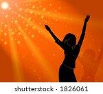 the girl dances disko . sunny... | Shutterstock . vector #1826061