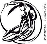 sport extreme risk racer action   Shutterstock .eps vector #1826066441