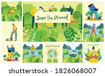 set of eco save environment... | Shutterstock .eps vector #1826068007