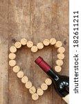 Wine Bottle And Wine Cork On...