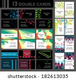 set of double business cards ... | Shutterstock .eps vector #182613035