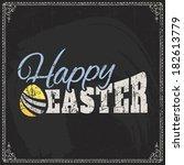 vector label element of easter... | Shutterstock .eps vector #182613779
