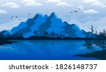 mountains and conifers are... | Shutterstock . vector #1826148737