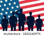 happy veterans day celebration... | Shutterstock .eps vector #1826160974
