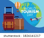 world tourism day lettering... | Shutterstock .eps vector #1826161217